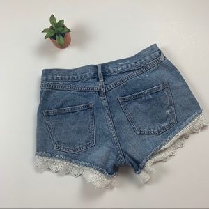 Free People Shorts - Free People Lace Trimmed Shorts